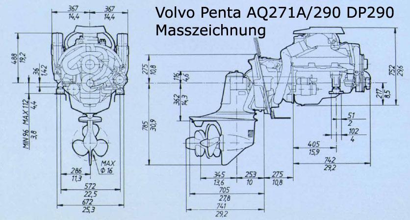 volvo penta aq271 a benzinmotor schmidt seifert. Black Bedroom Furniture Sets. Home Design Ideas